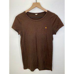 J. Crew Crew Neck Short Sleeve Tee Shirt Brown L